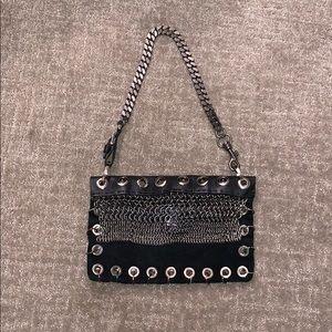 VERSUS VERSACE Vintage Suede &Leather SHOULDER BAG